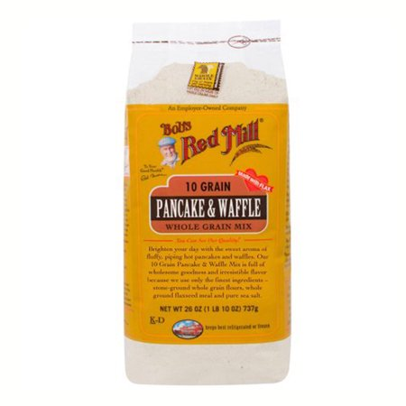 Bob's Red Mill 10 Grain Pancake & Waffle Whole Grain Mix 26 oz Bags - Single Pack (Bobs Red Mill Buttermilk Powder)