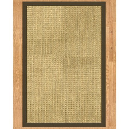 Handmade Collection (NaturalAreaRugs Montes Collection Natural Seagrass Area Rug, Handmade in USA, 100% Seagrass, Non-Slip Latex Backing, Durable, Stain Resistant, Eco-Friendly, (2 Feet x 3 Feet) Fudge Border)