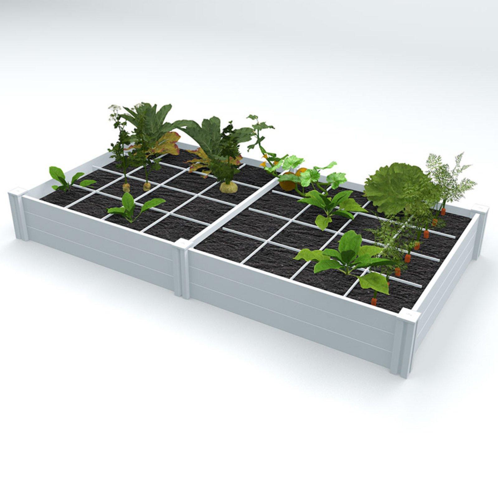 Belham Living 4 x 8 ft. Raised Garden Bed with Grow Grid