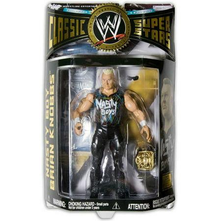 Superstars 17 Wwe Jakks Figure - WWE Wrestling Classic Superstars Series 12 Nasty Boy Brian Knobbs Action Figure