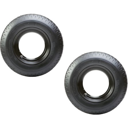 2-Pack Mounted Trailer Tire Rim Homaster 8-14.5 Load G 14.5 in. Demountable Rim (Pre Mounted Front Tire)