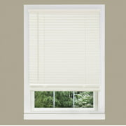 "Cordless Window Blinds Mini Blinds 1"" Slats Alabaster Beige Cream Venetian Vinyl Blind"