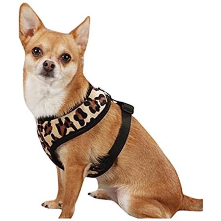 - Polyester Plush Leopard-Print Dog Harness, Medium,Walmartfortable padded dog harnesses with jungle-themed style By East Side Collection