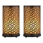 Decmode Metal Lamp, Brown