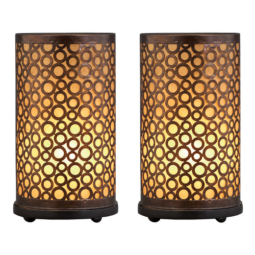 Decmode Metal Lamp, Brown