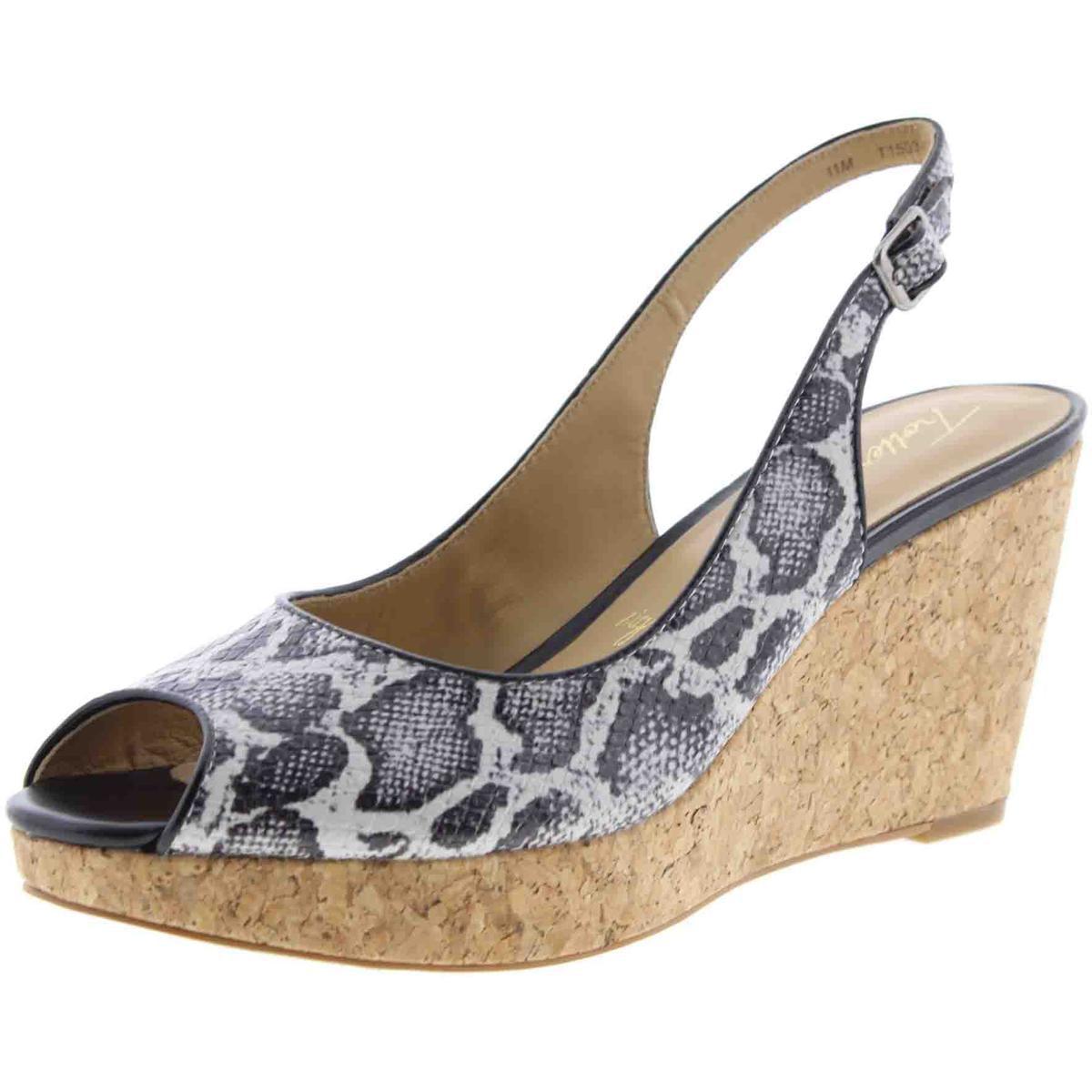 Trotters Womens Allie Cork Peep-Toe Wedge Sandals by Trotters