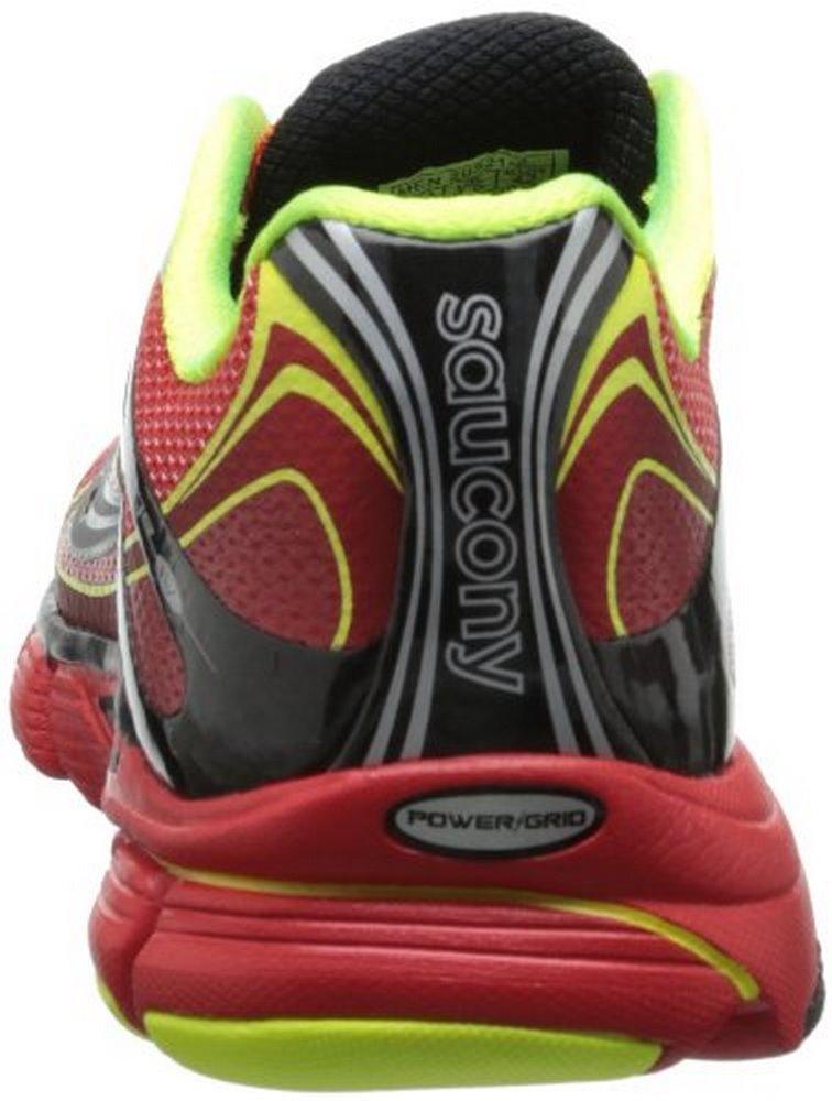 Saucony Men's Mirage 4 Running Shoe,Red Black Citron,7 M US by