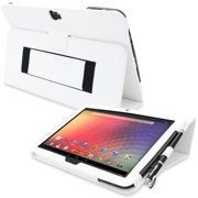 Snugg B00CL938KM Nexus 10 Case Cover and Flip Stand, White Leather