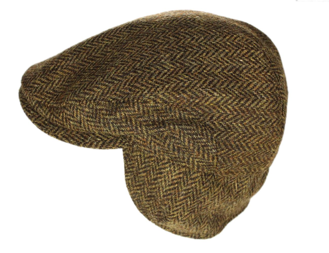 Irish Flap Cap 100% Tweed Warm Wool Ear Flap Cap Made in Ireland ... 6a70154ee59