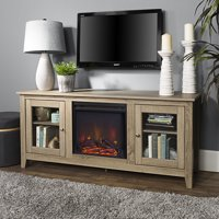 Walker Edison Traditional Wood Fireplace TV Stand