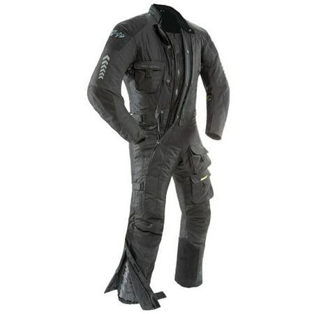 (Joe Rocket Survivor Mens Black Textile Riding Suit)