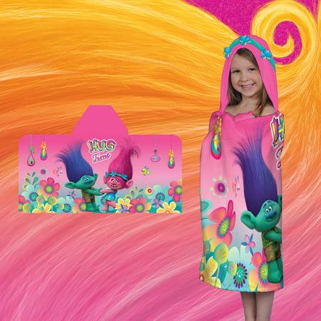 Dream Works' Trolls Hug Time Kids Hooded Bath Towel