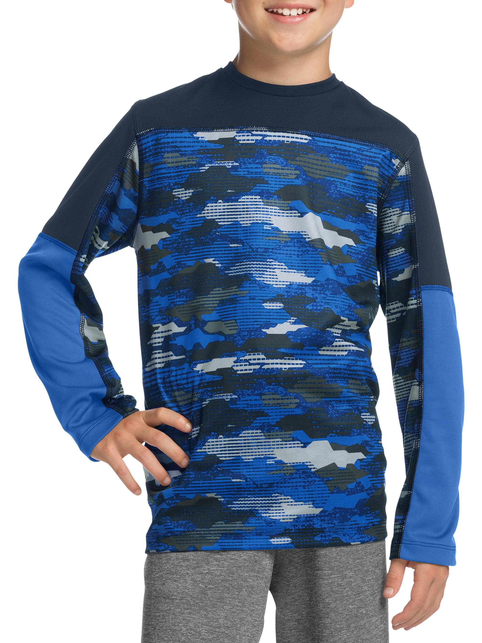 Boys' Long Sleeve Pieced Performance T-Shirt
