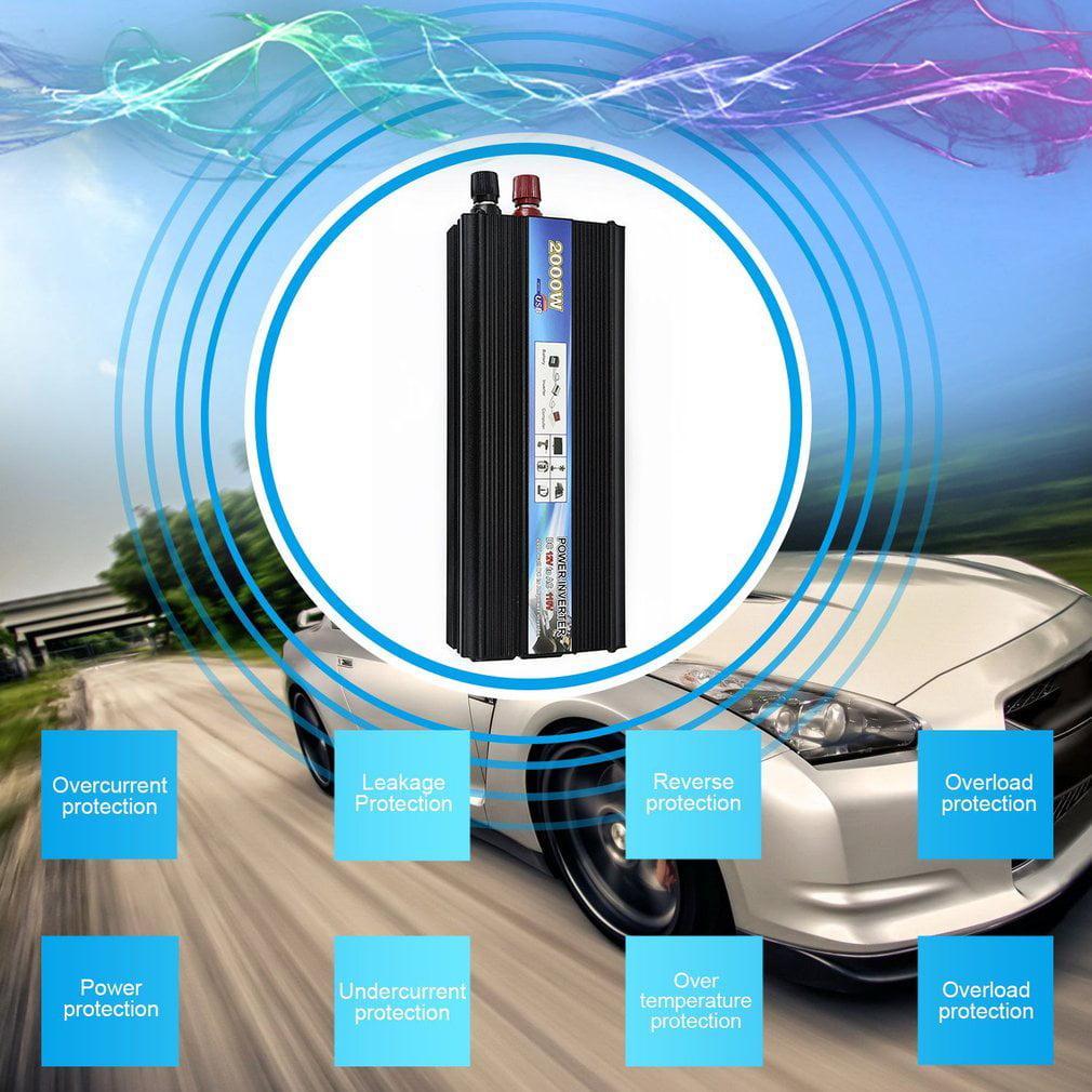 XUYUAN Car Inverter DC12V AC110V 60Hz Inverter 2000W Solar Power