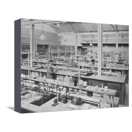 Student laboratory, Sterling Chemical Laboratory, Yale University, New Haven, Connecticut, 1926 Stretched Canvas Print Wall Art