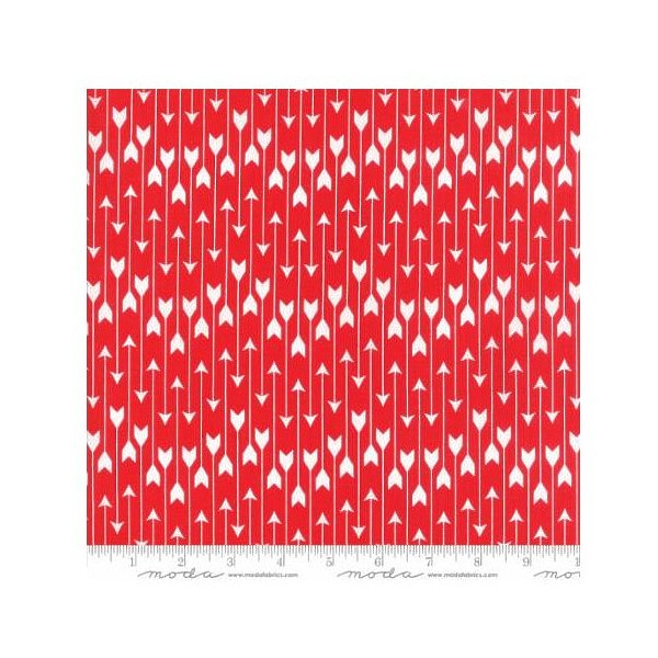 Clearance Sale~Valentine's Red Cupid's Bows - Love you - Cotton Moda Fabric
