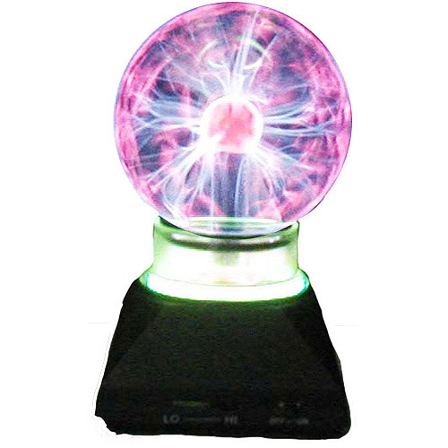 "4"" Plasma Ball with Neon Ring, Black"