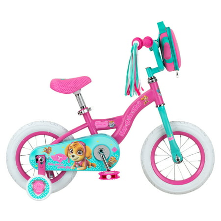 Nickelodeon Paw Patrol Skye kids bike, 12-inch weel, training wheels, girls, pink](Dino Bite Reviews)