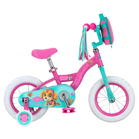 Nickelodeon Paw Patrol Skye kids bike, 12-inch weel, training wheels, girls,