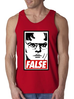 3c6d093ff52f41 Product Image New Way 1154 - Men s Tank-Top Dwight Schrute The Office USA  False Statement 2XL