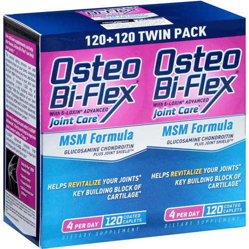 Osteo Bi-Flex Joint Shield MSM Formula with 5-Loxin, 120 ct, 2 pk