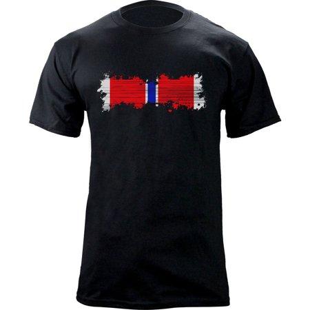 Distressed Bronze Star Medal Ribbon Veteran T-Shirt
