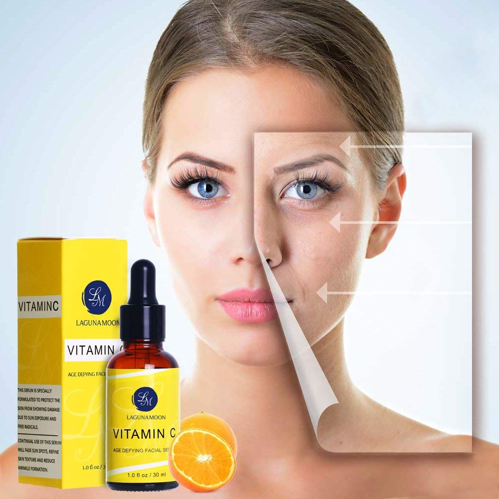 Best Natural Vitamin C Facial Serum Organic Anti-Aging Serum For Face and  Eye Treatment For Youthful Looking