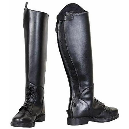 - TuffRider Women's Starter Back Zip Field Boots in Synthetic Leather, Black, 9 Wide