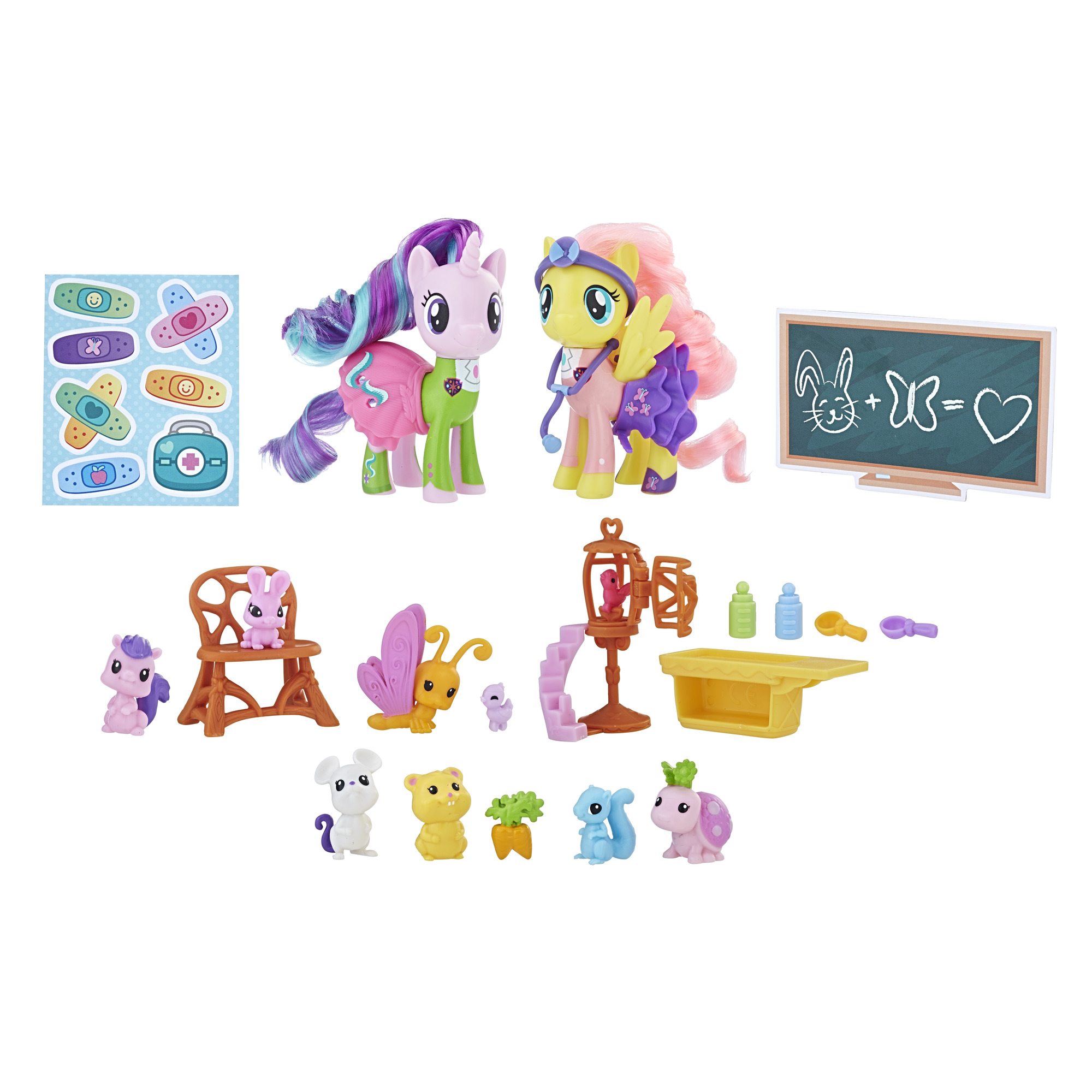 My Little Pony Fluttershy Starlight Glimmer Pet Care Class Walmartcom