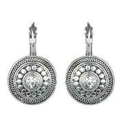 Emitations Silver Overlay Tribal Antique Dangle Earrings