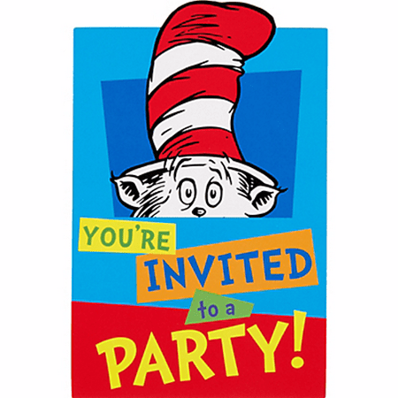 Dr Seuss Paper (Dr. Seuss 'Polka Dots' Invitation Set w/ Envelopes)