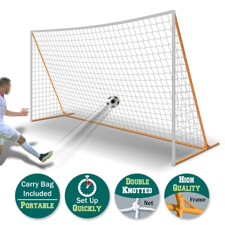 Sunrise Outdoor 12' x 6' Portable Soccer Goal Football Goal Sport Training Sets (White