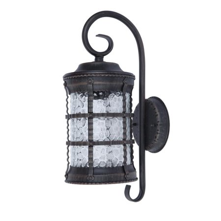 Home Decorators Collection Medium Exterior Wall Lantern Antique Rust Finish Hammered Glass