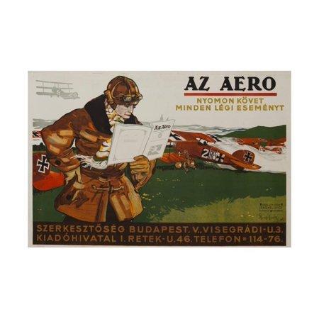 Sport Aviation Magazine (Az Aero Hungarian Aviation Magazine Poster Print Wall Art )