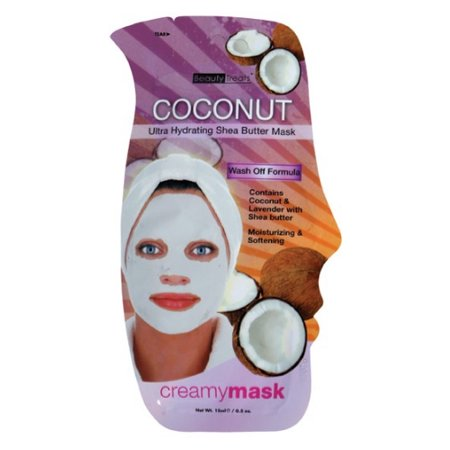 6 Pack  Beauty Treats Coconut Ultra Hydrating Shea Butter Mask   Coconut
