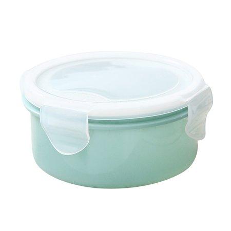 Mini Launch (Outtop Food Refrigerator Storage Box Plastic Mini Round Small Lunch Box)