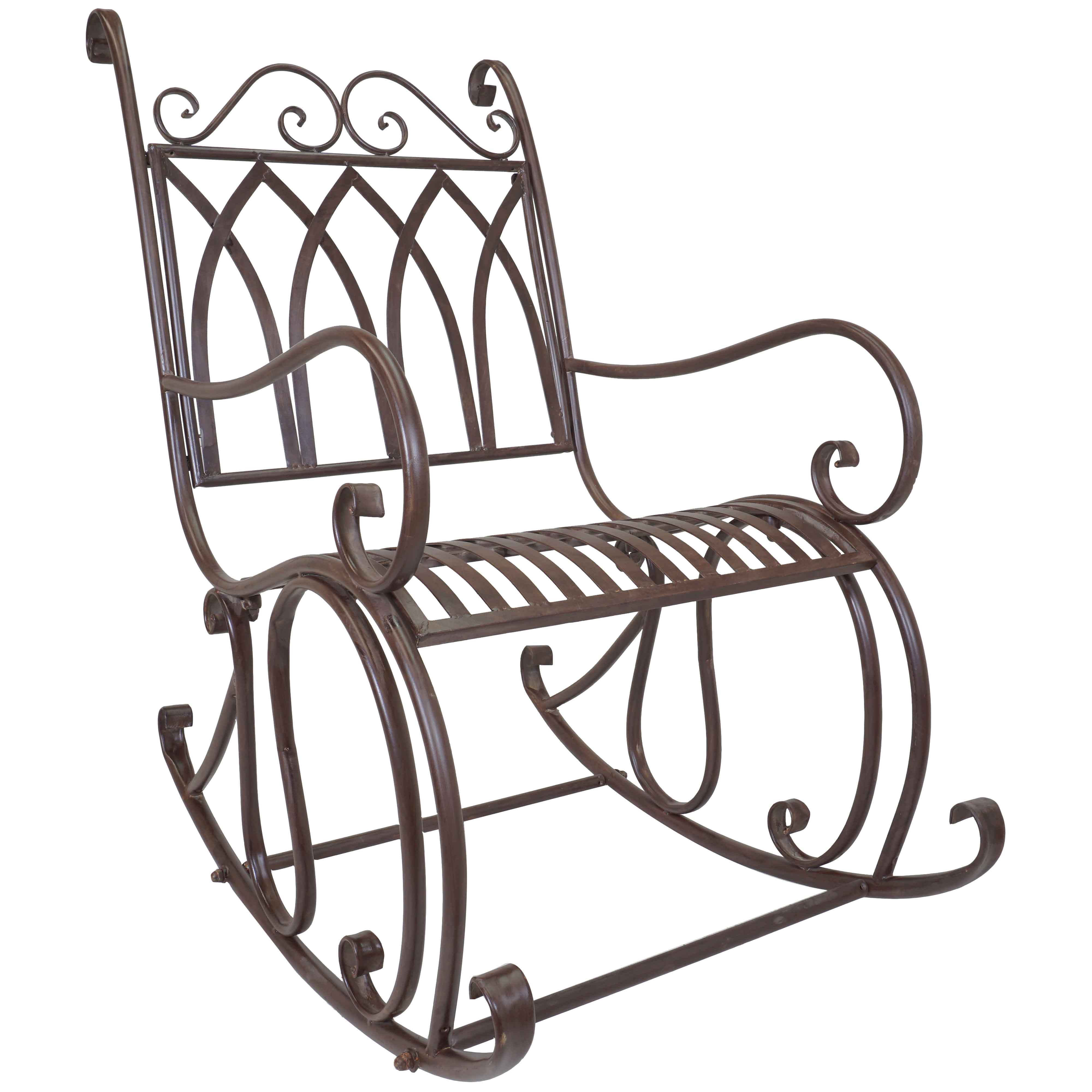 Titan Outdoor Metal Rocking Chair Porch Patio Garden Seat Deck Decor