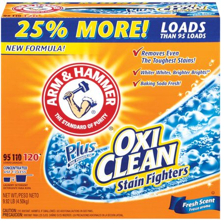 Arm Amp Hammer Powder Plus Oxiclean Stain Fighters Fresh