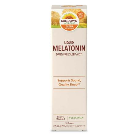 Sundown Naturals  Liquid Melatonin  Cherry Flavored  2 fl oz  59