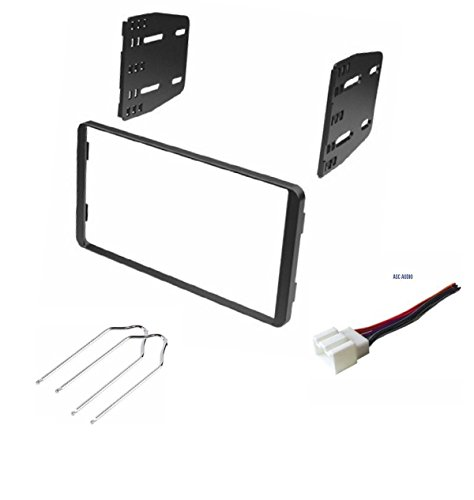 ASC Double Din Car Stereo Install Dash Kit, Wire Harness, and Radio Tool for some 01-03 Ford Escape, 00-04 Ford Excursion, 98-01 Ford Explorer, 99-03 Ford Windstar, 98-01 Mercury Mountaineer