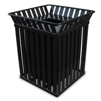 Oakley Series Square Trash Can 36 Gallons - Black