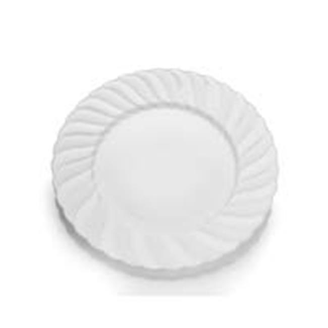 CPC 6ELWP 6 in. Elegant Disposable Hard Plastic Plates, White - Case ...