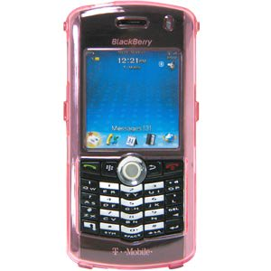 Premium Snap On Hard Shell Case for BlackBerry 8100, BlackBerry Pearl - Bubble Gum Pink