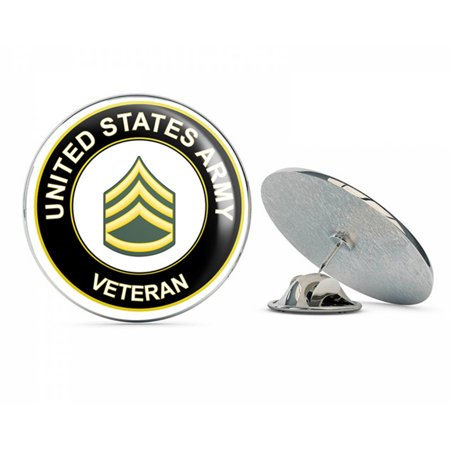 Staff Lapel Pin (U.S. Army Staff Sergeant Veteran Metal 0.75