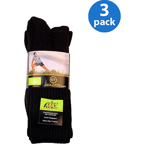 GT by Gold Toe Maxspun Crew Socks, 3-Pack