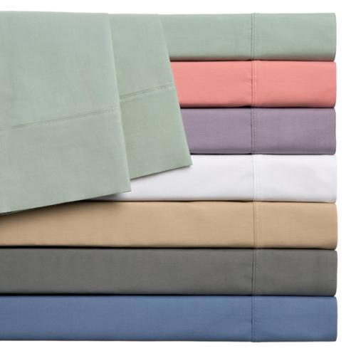 Home Styles Cotton Rich Solid Percale Sheet Set Twin XL - White