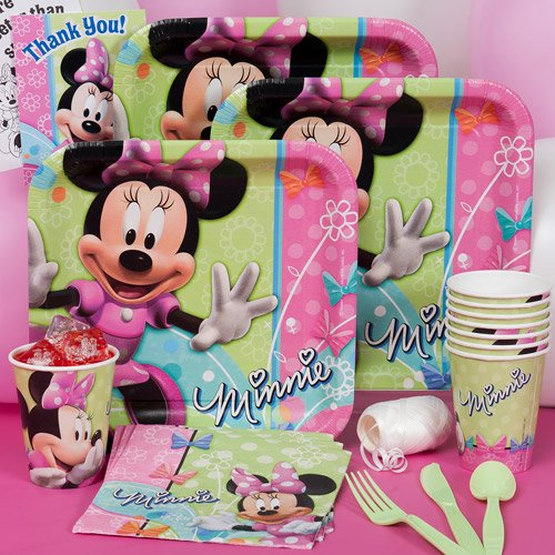 Adorable Birthday Supplies Walmart O6304366 Party 8 2 3 Decorations Minnie Mouse Basic Kit N Kaboodle
