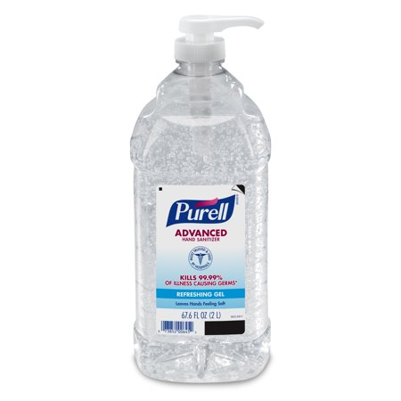 PURELL Advanced Hand Sanitizer, 2 Liter Economy Size Pump Bottle