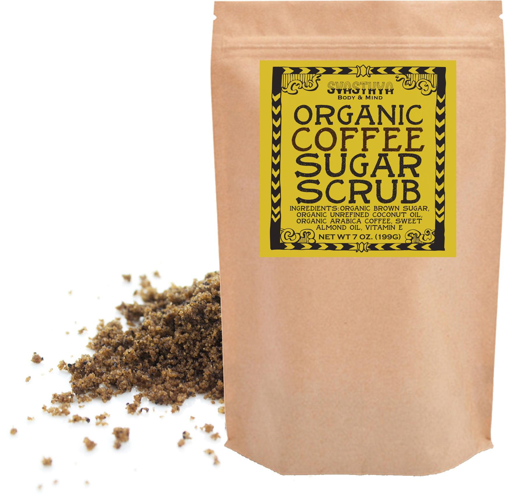 Svasthya Body & Mind Organic Coffee Sugar Scrub 7 oz