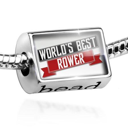 Bead Worlds Best Rower Charm Fits All European
